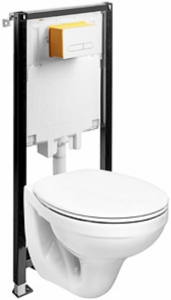 Pachet Complet Sistem WC Suspendat Kolo Idol - Gata de Montaj - Cadru fixare + Rezervor Ingropat, Clapeta Alba, Vas WC si Capac WC [4]