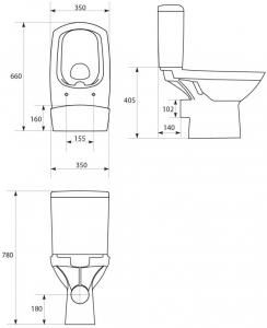 Pachet Complet Toaleta Cersanit Carina CleanON - Vas WC, Rezervor, Armatura, Capac Softclose, Set de Fixare6