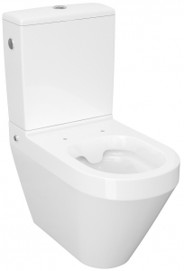 Pachet Complet Toaleta Cersanit Crea Oval - Vas WC, Rezervor, Armatura, Capac Slim & Soft, Set de Fixare0