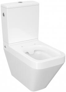 Pachet Complet Toaleta Cersanit Crea Rectangular - Vas WC, Rezervor, Armatura, Capac Slim & Soft, Set de Fixare [0]