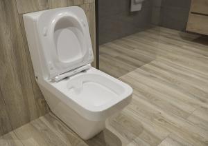 Pachet Complet Toaleta Cersanit Crea Rectangular - Vas WC, Rezervor, Armatura, Capac Slim & Soft, Set de Fixare [2]