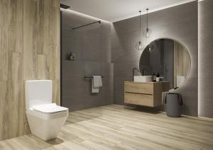 Pachet Complet Toaleta Cersanit Crea Rectangular - Vas WC, Rezervor, Armatura, Capac Slim & Soft, Set de Fixare [3]