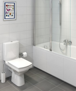 Pachet Complet Toaleta Cersanit Easy CleanON - Vas WC, Rezervor, Armatura, Capac Softclose, Set de Fixare3