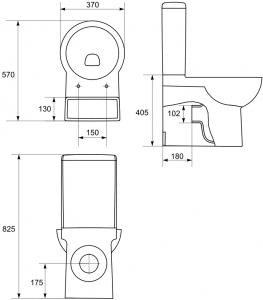 Pachet Complet Toaleta Cersanit Nano - Vas WC, Rezervor, Armatura, Capac Softclose, Set de Fixare2