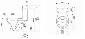 Pachet Complet Toaleta Kolo Idol - Vas WC, Rezervor, Armatura, Capac, Set de Fixare2