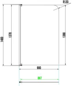 Paravan Cada WEST Co Zalau 90x140 [2]