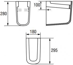Semi-Piedestal Cersanit Facile1