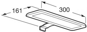 Set complet Roca Debba 600 Compact - Lavoar + Mobilier + Oglinda + Lampa LED + Sifon - Wenge deschis6