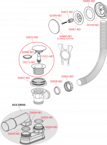Sifon scurgere Click-Clack cu preaplin AlcaPlast [1]