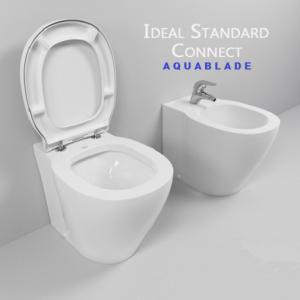 Vas WC pe pardoseala Ideal Standard Connect Aquablade - Back-to-Wall - Pentru rezervor incastrat3