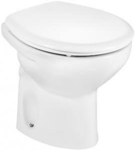 Vas WC pe pardoseala Roca Victoria - Pentru rezervor la semi-inaltime - Scurgere laterala0