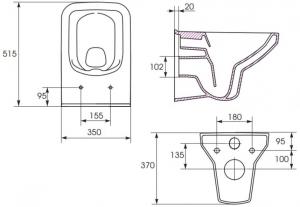 Vas WC Suspendat Cersanit Como - CleanON14