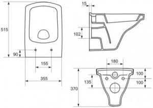 Vas WC Suspendat Cersanit Easy - CleanON [11]