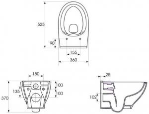 Vas WC Suspendat Cersanit Moduo - CleanON5