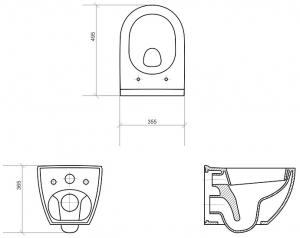 Vas WC Suspendat Cersanit Urban Harmony - CleanON3