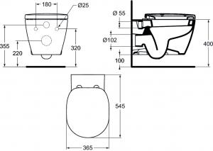 Vas WC Suspendat Ideal Standard Connect6