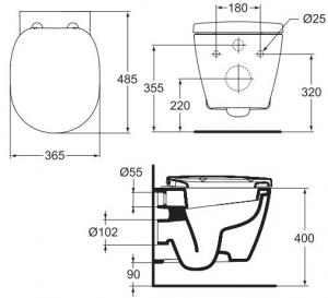 Vas WC Suspendat Ideal Standard Connect Compact [3]