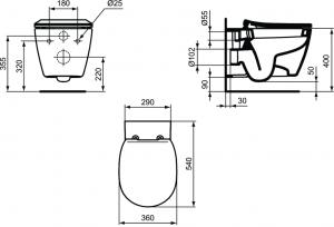 Vas WC Suspendat Ideal Standard Connect - Fixare ascunsa [6]