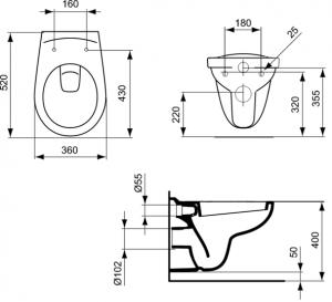 Vas WC Suspendat Ideal Standard Eurovit4