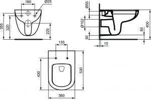 Vas WC Suspendat Ideal Standard Tempo Rimless3