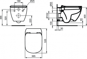 Vas WC Suspendat Ideal Standard Tesi6