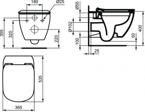 Vas WC Suspendat Ideal Standard Tesi Rimless [5]