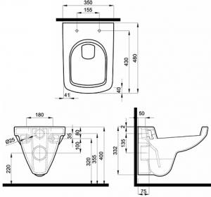 Vas WC Suspendat Kolo Nova PRO Compact [2]