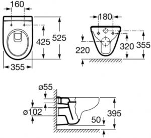 Vas WC Suspendat Roca Victoria2