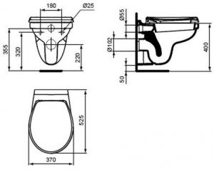 Vas WC Suspendat Vidima Sevafresh [1]