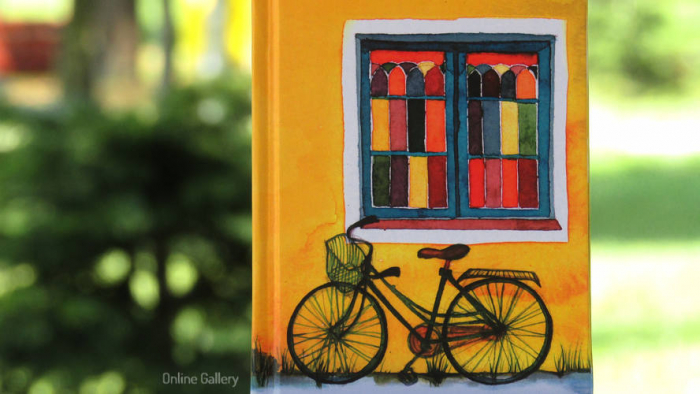 Agenda personalizata cu ilustratie - bicicleta