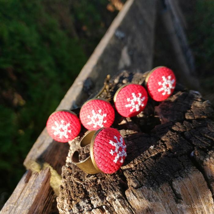 Set Bijuterii Handmade de Crăciun - Fulg de Nea 2