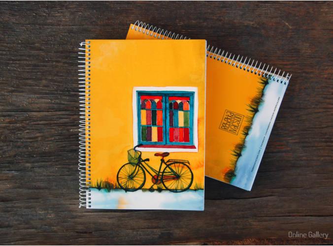Caiet personalizat - bicicleta si culoare 1