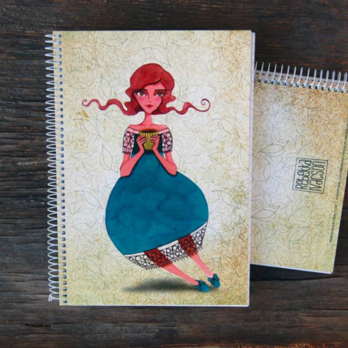 Caiet personalizat cu ilustratie - Zana Ceaiului