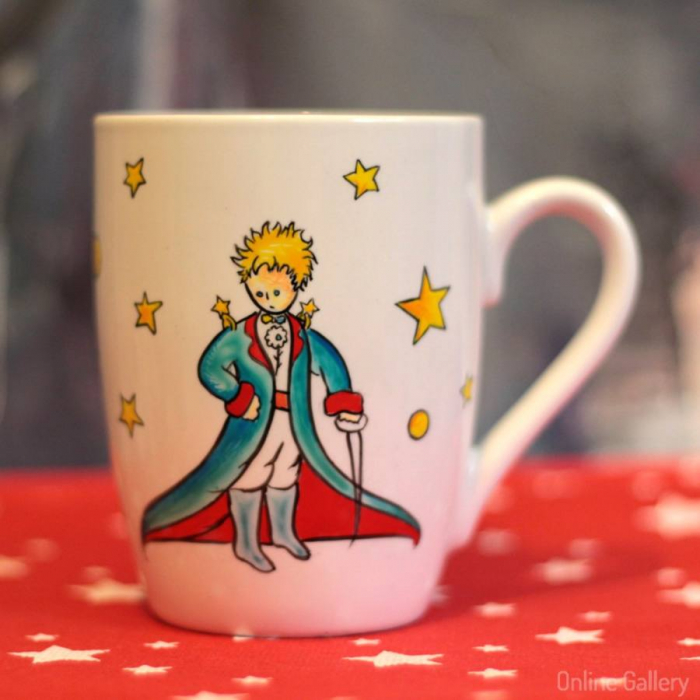 Cană pictată Micul Prinț în haine de Sărbătoare 0