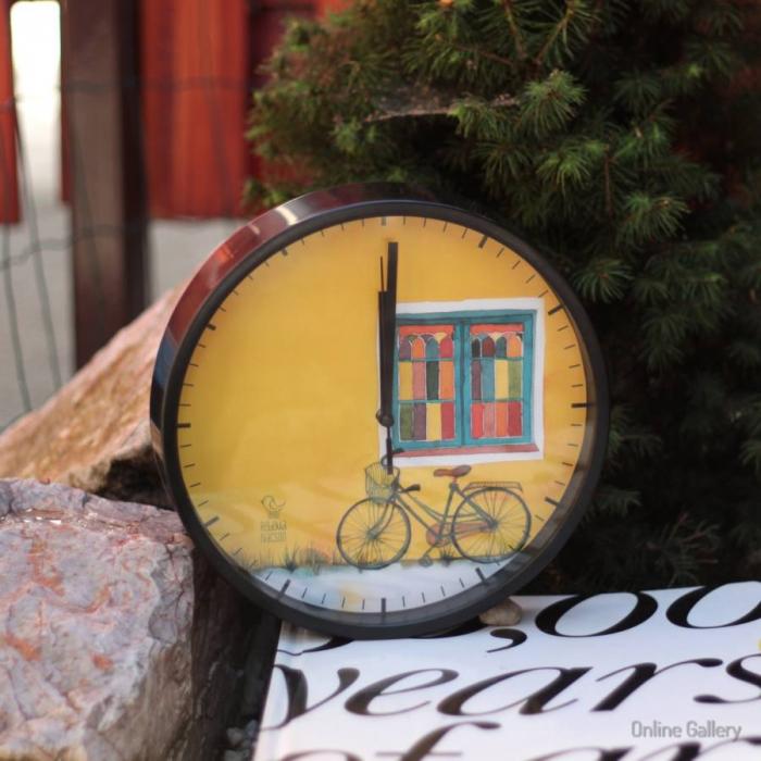 Ceas cu ilustrație – bicicleta