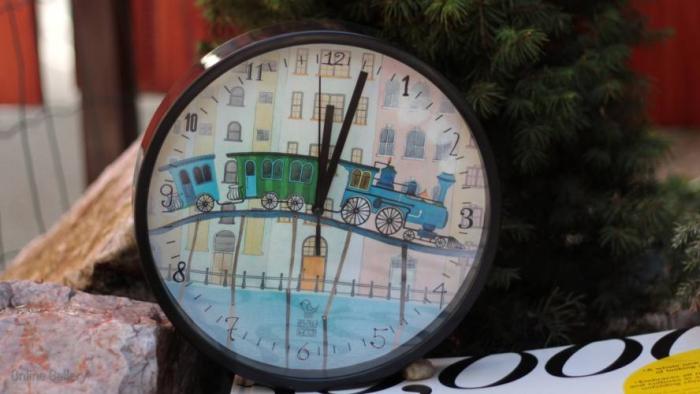 Ceas de perete decorativ - trenul visurilor 1