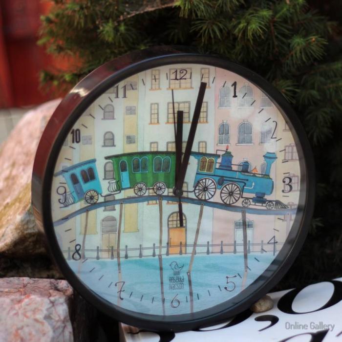Ceas de perete decorativ - trenul visurilor 0