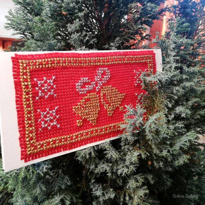Felicitare de Crăciun cu motive tradiţionale 0