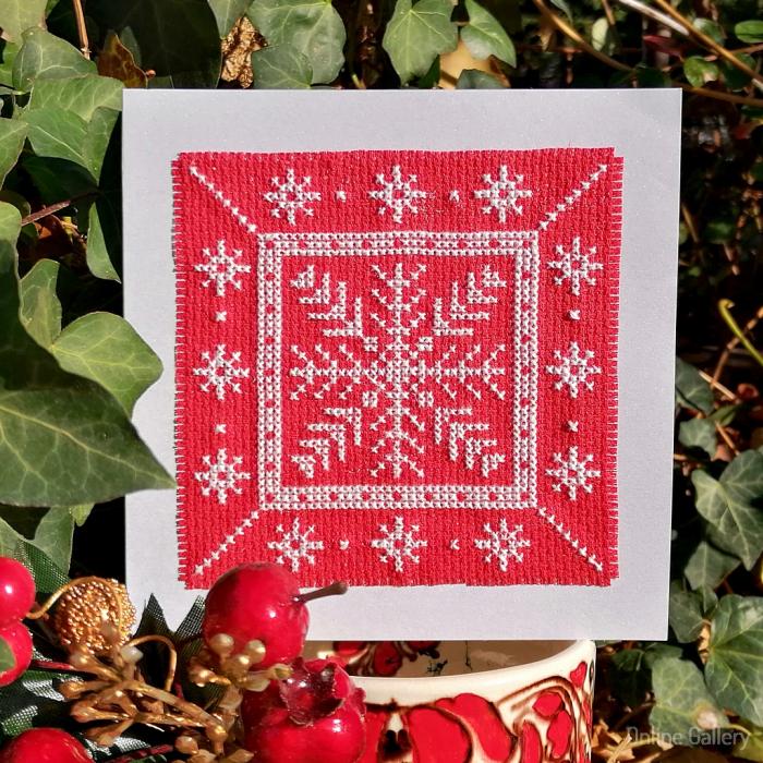 Felicitare de Crăciun - Fulg de Gheață 0