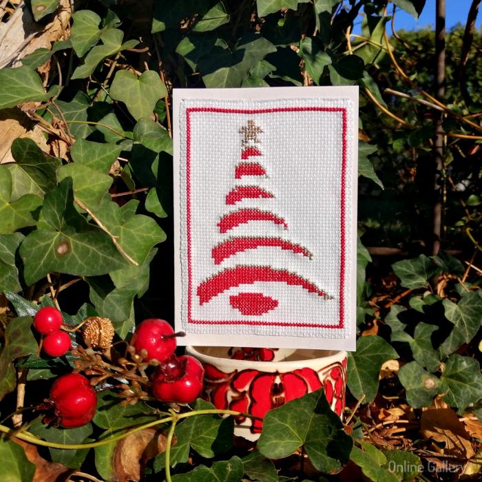 Felicitare Handmade - Brăduț de Crăciun 0