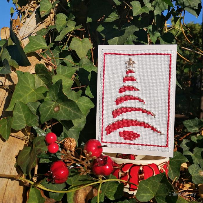 Felicitare Handmade - Brăduț de Crăciun 2