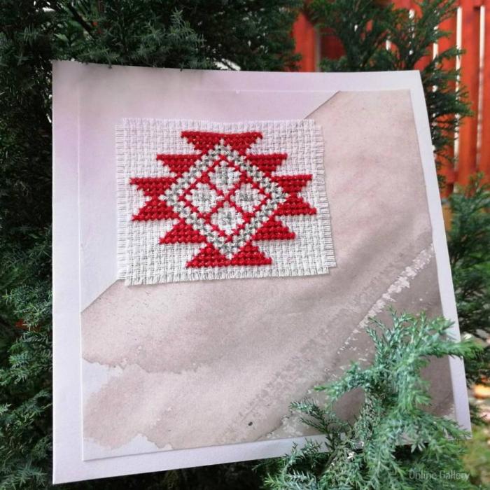Felicitare de Crăciun lucrată manual 2