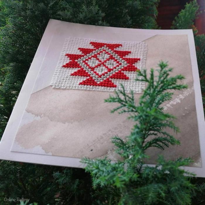 Felicitare de Crăciun lucrată manual 1