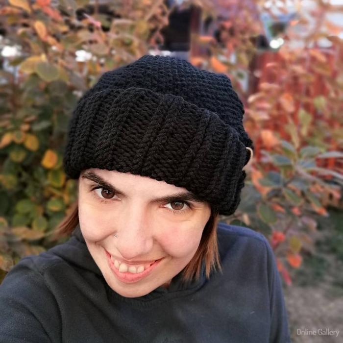 Caciula tricotată cu pompon 3
