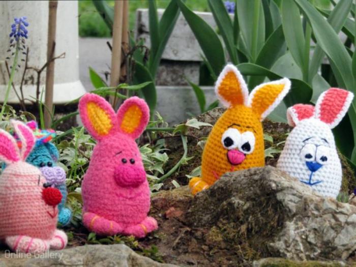 Jucărie iepuraș roz 2