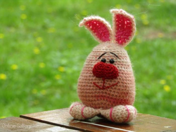 Jucărie iepuraș roz 1