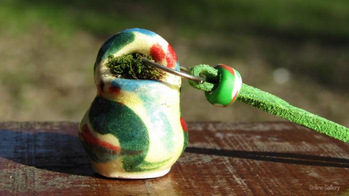 Pandantiv handmade – eco-chic natur 2