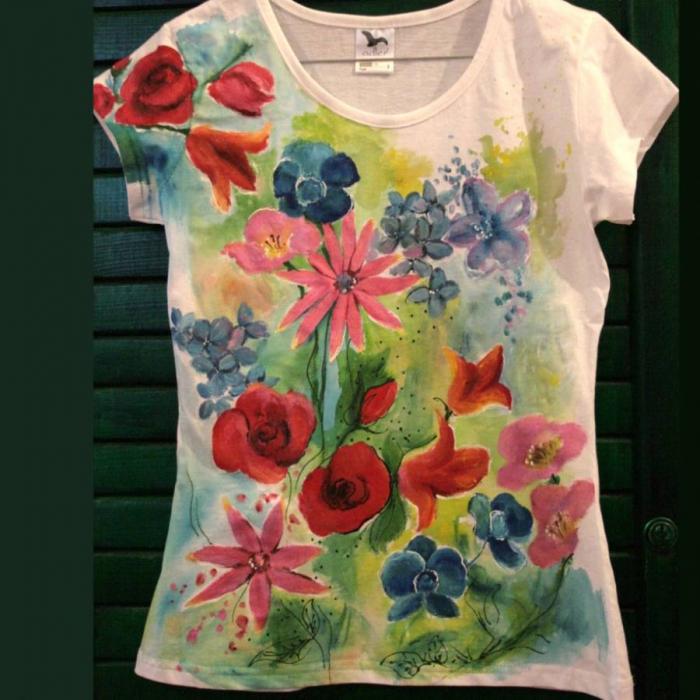 tricou flori 0