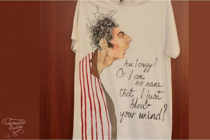 Tricou Pictat Kramer Seinfeld 1