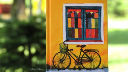 Agendă personalizată cu ilustratie – Bicicleta